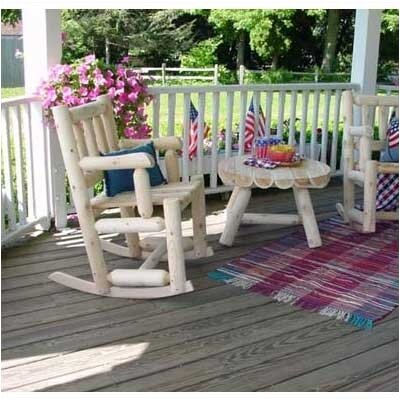 Rustic Natural Cedar Furniture Indoor / Outdoor Cedar Rocking Chair