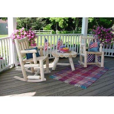 Rustic Natural Cedar Furniture Porch Rocker Seating Group
