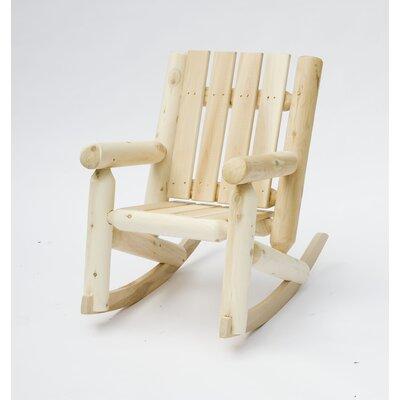 Junior Cedar Log Rocking Chair by Rustic Cedar
