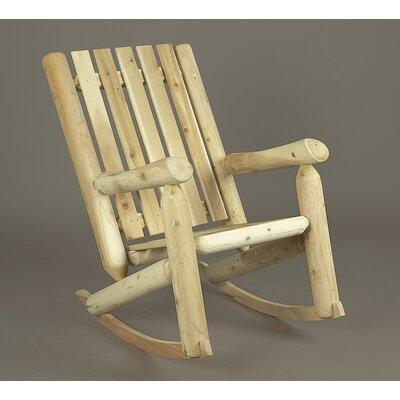 Rustic Natural Cedar Furniture High Back Indoor / Outdoor Cedar Rocking Chair