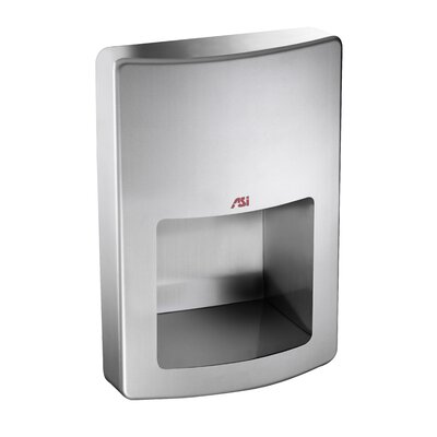 Roval Recessed 120 Volt Hand Dryer in Stainless Steel by American Specialties
