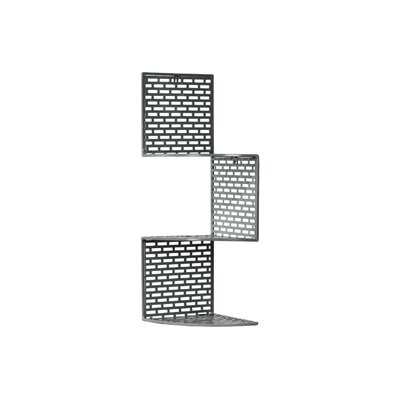 Metal Corner Shelf with 3 Tiers and Perforated Surface and Backing SM Red by Urban ...