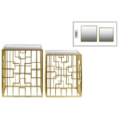 Metal Square 2 Piece Nesting Tables by Urban Trends