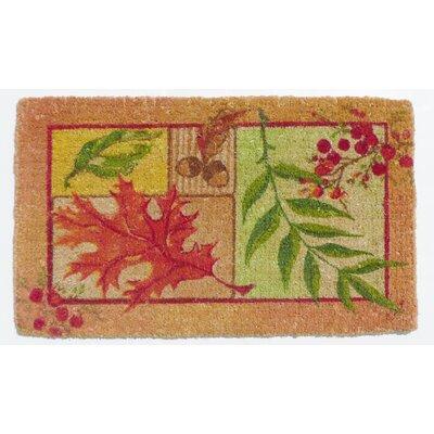 Thanksgiving Leaf Collage Coir Doormat by Peking Handicraft