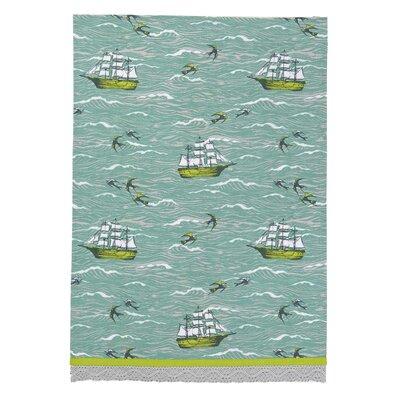 Peking Handicraft Ship/Birds at Sea Kitchen Towel