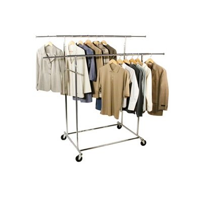 Free Standing Storage Double Parallel KD Garment Rack Product Photo