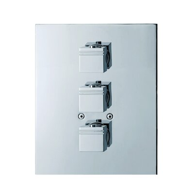 Roman Soler by Nameeks Kuatro Rectangle Thermostatic Three Hole Shower Mixer