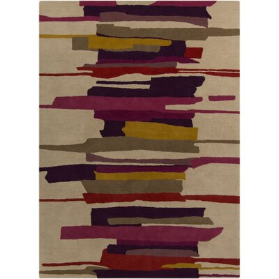Tan Abstract Area Rug by Harlequin