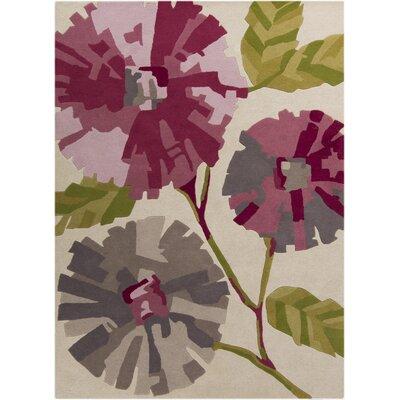 Ivory Floral Area Rug by Harlequin