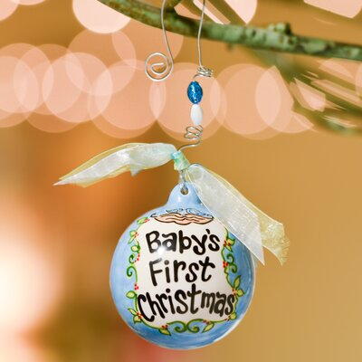 Baby's First- Birds in Nest Ball Ornament by Glory Haus