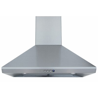 "RA-14L Series 36"" Wall Mount Range Hood in Stainless Steel Product Photo"