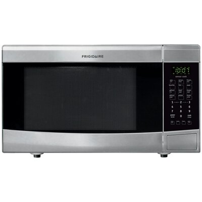 1.6 Cu. Ft. 1100W Countertop Microwave in Stainless Steel Product Photo