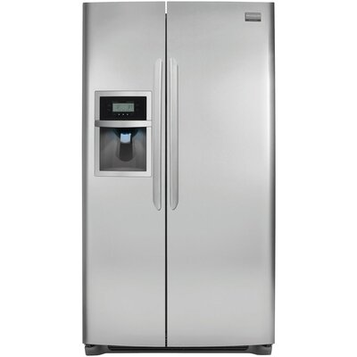 26 cu. ft. Side-By-Side Refrigerator in Stainless Steel Product Photo