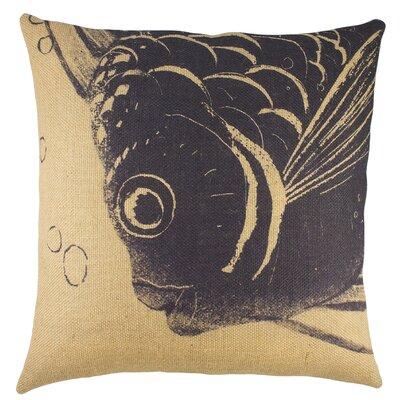 Fish burlap throw pillow wayfair for Fish throw pillows