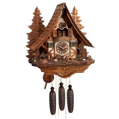 Eight Day Musical Chalet Cuckoo Wall Clock by River City Clocks
