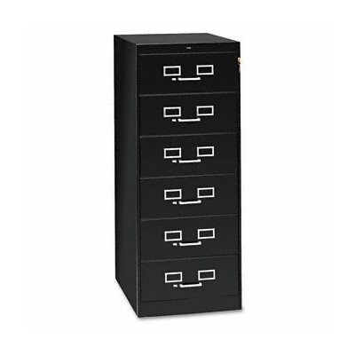 Tennsco Corp. 6-Drawer Card Filing Cabinet