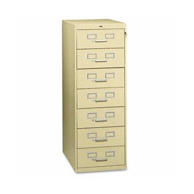 Tennsco Corp. Tennsco Seven-Drawer Multimedia Filling Cabinet
