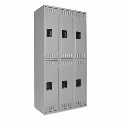 Tennsco Corp. 2 Tier 3 Wide Contemporary Locker