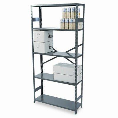 """Tennsco Corp. Commercial 75"""" H 5 Shelf Shelving Unit Starter"""