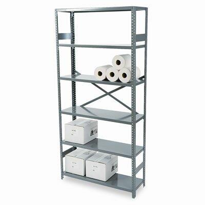 """Tennsco Corp. Commercial 75"""" H 6 Shelf Shelving Unit Starter"""