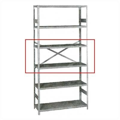 Tennsco Corp. Pair of Extra Shelves for Standard Shelving Package