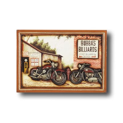 Game Room Bubba's Billiards Framed Vintage Advertisement by RAM Game Room
