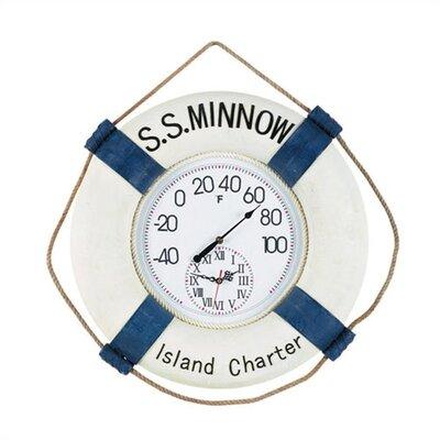 "RAM Game Room Outdoor ""S.S. Minnow""  Wall Clock"