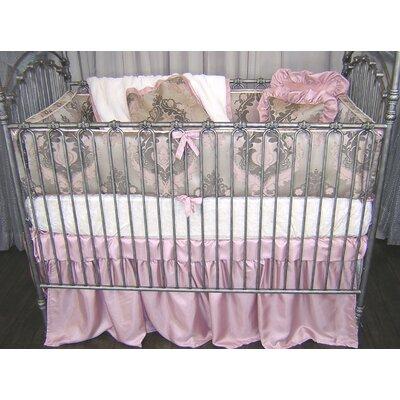 Pink Champagne 4 Piece Crib Bedding Set by Blueberrie Kids