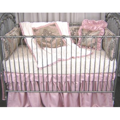 Pink Champagne 3 Piece Crib Bedding Set by Blueberrie Kids