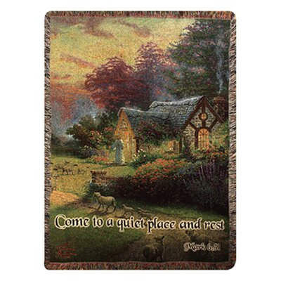 Manual Woodworkers & Weavers Good Shepherds Cot Verse Tapestry Cotton Throw