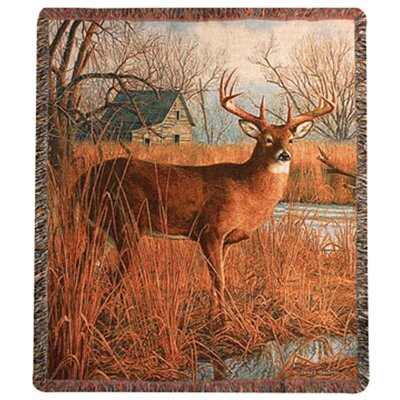 Manual Woodworkers & Weavers His Side of the River Tapestry Cotton Throw