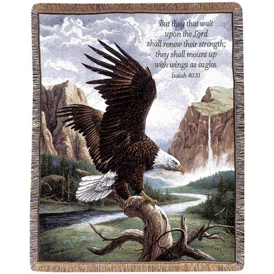 Manual Woodworkers & Weavers Freedom Picken Verse Tapestry Cotton Throw