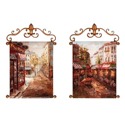Rue De Paris Canvas Art by Manual Woodworkers & Weavers