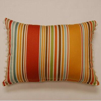 Dakotah Pillow Deck Chair Ball Fringe Shell Cotton Throw Pillow