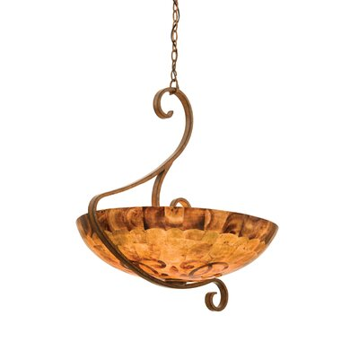 G-Cleft 5 Light Bowl Inverted Pendant by Kalco