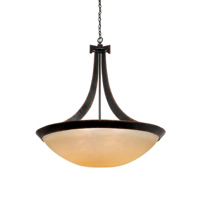 Kalco Copenhagen 6 Light Bowl Inverted Pendant