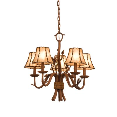Ponderosa 5 Light Chandelier by Kalco