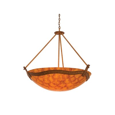 Kalco Aegean 6 Light Bowl Inverted Pendant