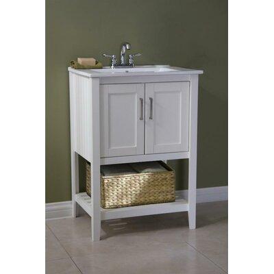 "24"" Single Bathroom Vanity Set with Basket Product Photo"