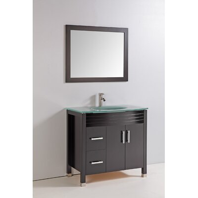 "36"" Single Bathroom Vanity Set with Mirror Product Photo"