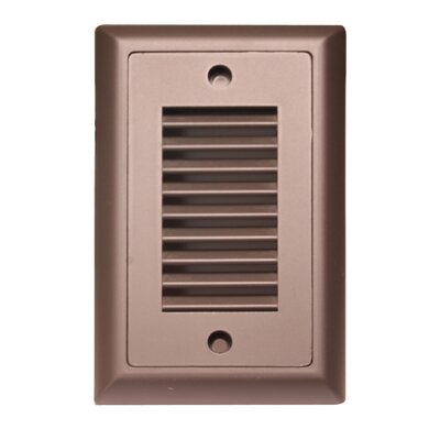 American Lighting LLC Indoor Outdoor Vertical Louver LED Step Light Faceplate