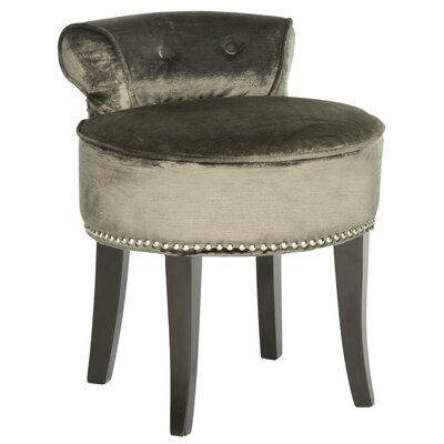 Safavieh Mulberry Upholstered Dressing Table Stool In Mink