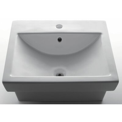 EAGO Porcelain Bathroom Sink with Single Hole