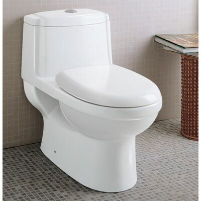 Ceramic Dual Function Elongated Toilet 1 Piece Product Photo