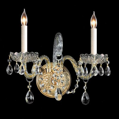 Traditional Crystal 2 Light Candle Wall Sconce Wayfair