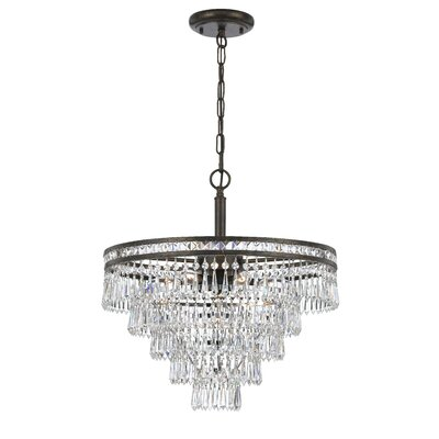 Mercer 6 Light Crystal Chandelier by Crystorama