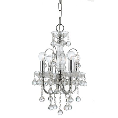 Imperial 4 Light Crystal Chandelier by Crystorama
