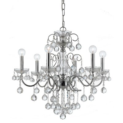 Imperial 6 Light Crystal Chandelier by Crystorama