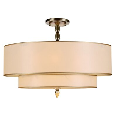 Luxo 5 Light Semi Flush Mount by Crystorama
