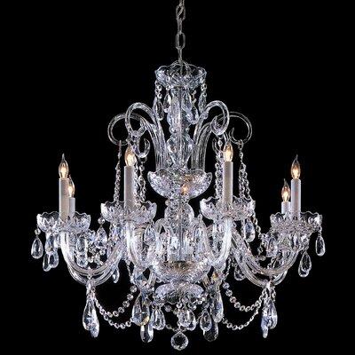 8 Light Chandelier with Swarovski Strass Crystal by Crystorama